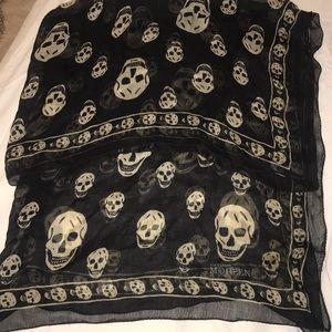 Alexander McQueen authentic black skull scarf